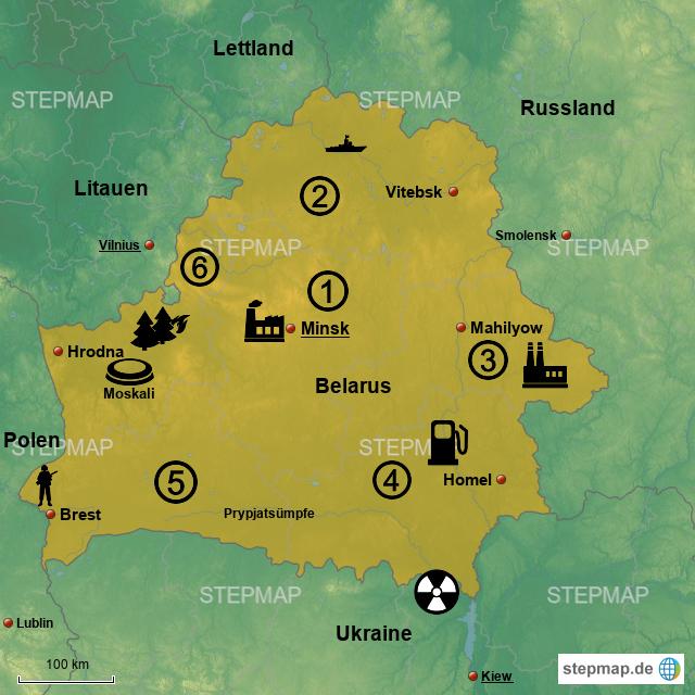panem karte StepMap   Chleb Panem in Belarus 2074!   Landkarte für Weißrussland