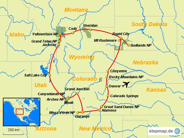 Colorado Karte.Stepmap Colorado Und Rocky Mountains Landkarte Für Welt