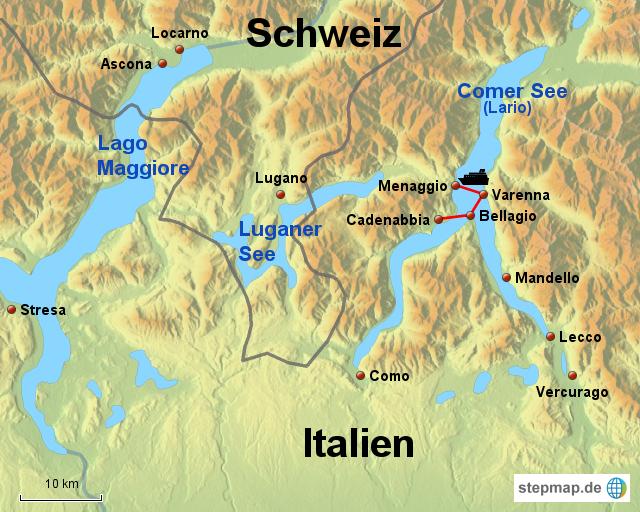 karte comer see StepMap   Comer See   Landkarte für Italien karte comer see