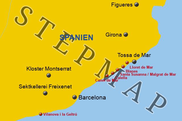 Karte Costa Brava Spanien.Stepmap Costa Brava 2017 3 2 Landkarte Fur Deutschland