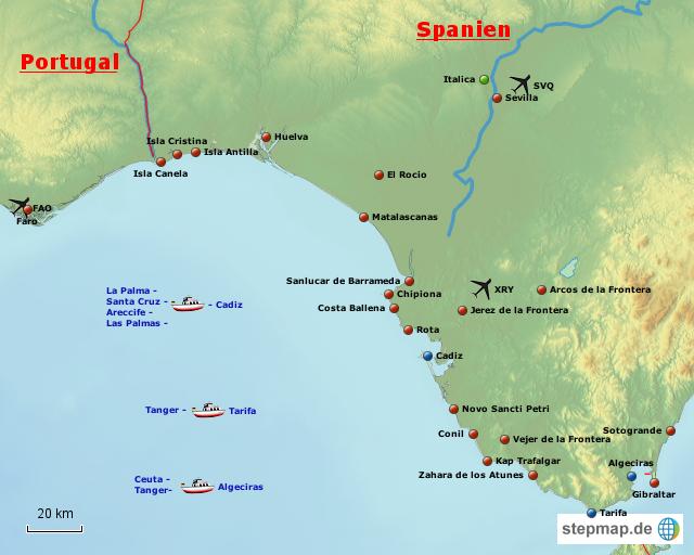 costa de la luz karte StepMap   Costa de la Luz   Landkarte für Spanien
