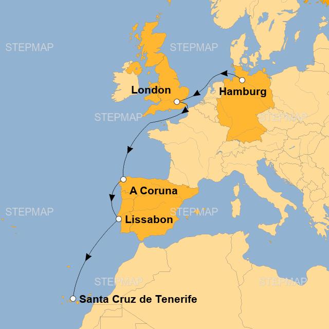 Teneriffa Karte Europa.Stepmap D Hh42 Landkarte Fur Europa