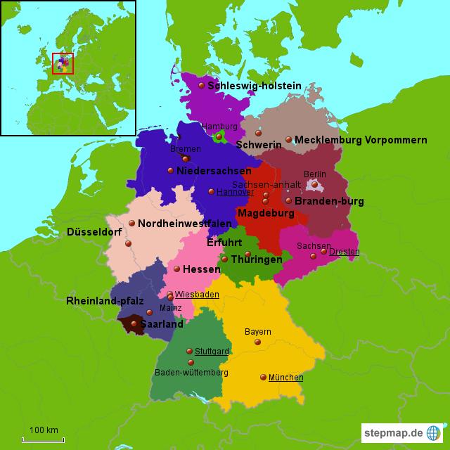 d karte deutschland StepMap   D Karte,Zoe,Emi   Landkarte für Deutschland