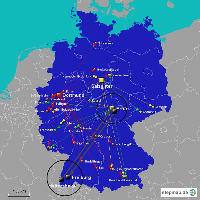 erfurt landkarte deutschland StepMap   DC Erfurt   Landkarte für Deutschland