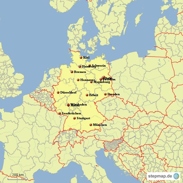 brd ddr karte StepMap   DDR/BRD   Landkarte für Deutschland