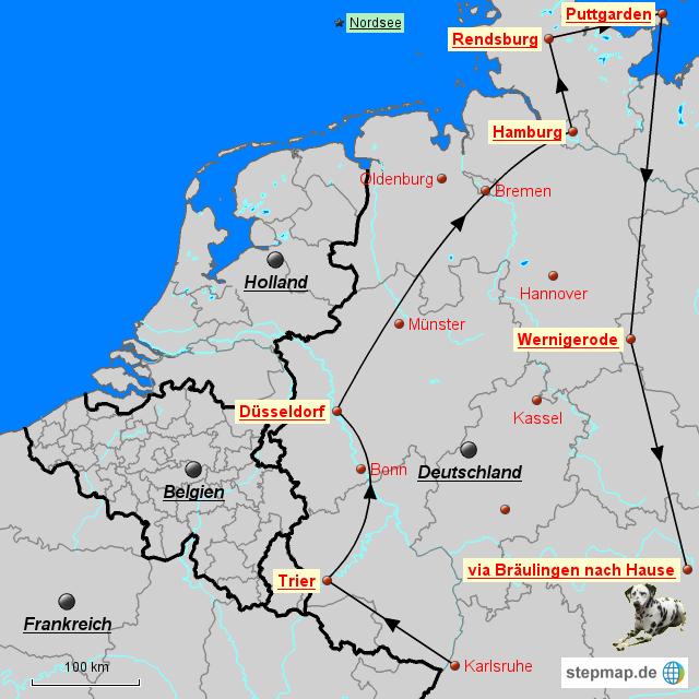 Landkarte Norden Deutschland