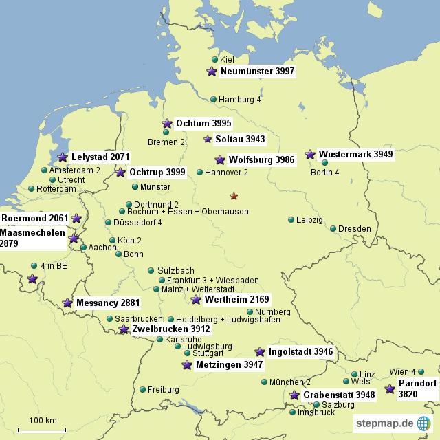 outlet deutschland karte StepMap   DE Outlet   Landkarte für Deutschland