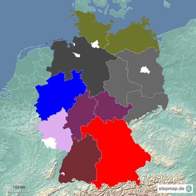 Karte Deu