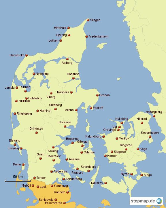 Landkarte Deutschland Dänemark