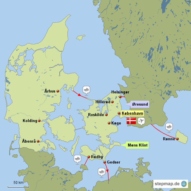 Dänemark Landkarte