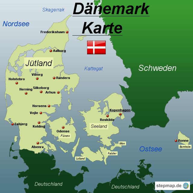 karte von dänemark StepMap   Dänemark Karte   Landkarte für Dänemark karte von dänemark