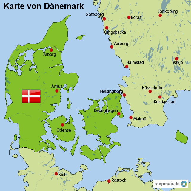 Stepmap Danemark Landkarte Landkarte Fur Danemark