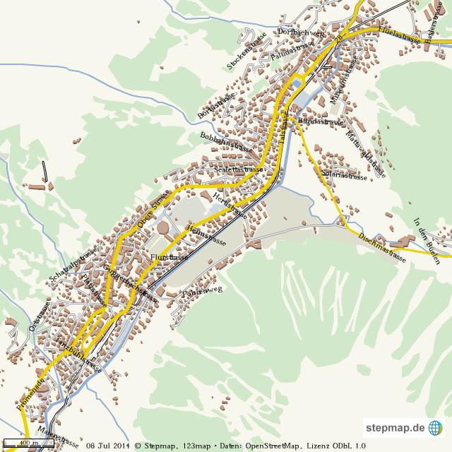 StepMap - Davos Map Final - Landkarte für Welt