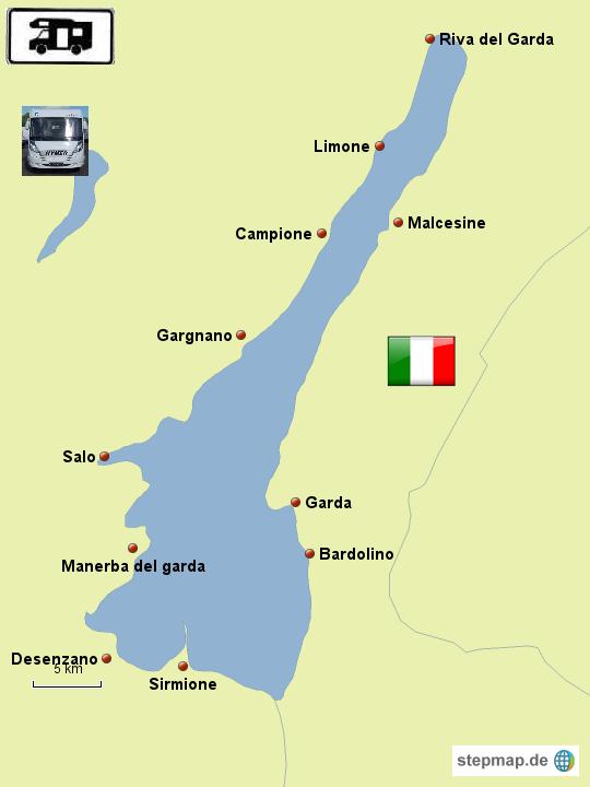 Karte Italien Gardasee.Stepmap Der Gardasee Landkarte Für Italien