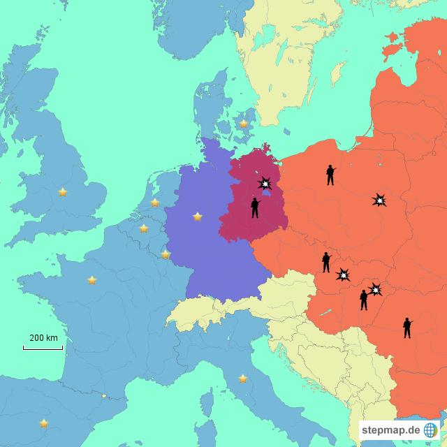 Kalter Krieg Karte.Stepmap Der Kalte Krieg Landkarte Für Deutschland
