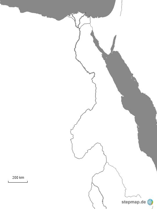 Karte ägypten Nil.Stepmap Der Nil Landkarte Für ägypten