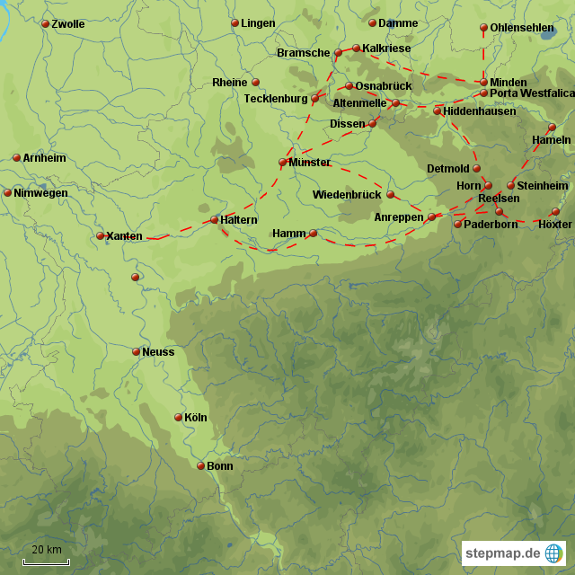 Varusschlacht Karte.Stepmap Der Ort Der Varusschlacht Im Jahre 9 Landkarte
