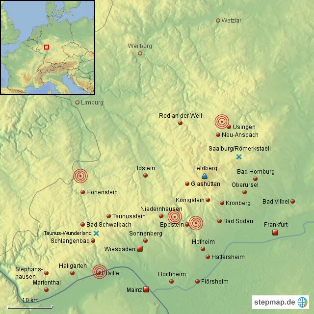 taunus karte StepMap   Der Taunus   Landkarte für Deutschland