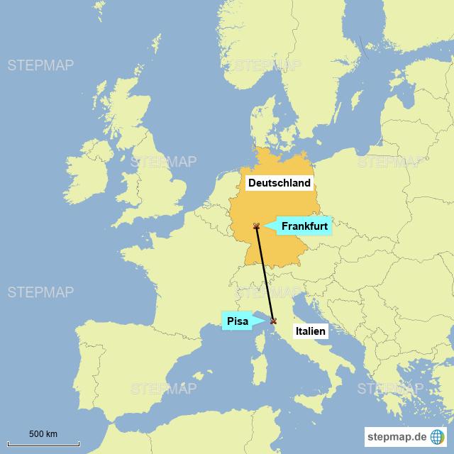 Pisa Karte.Stepmap Der Schiefe Turm Von Pisa Landkarte Für Deutschland
