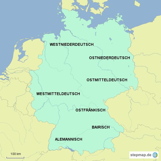 deutsche dialekte karte StepMap   Deutsche Dialekte   Landkarte für Deutschland deutsche dialekte karte