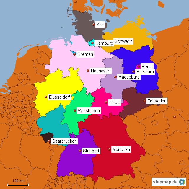 deutsche landkarte StepMap   Deutsche Karte   Landkarte für Deutschland deutsche landkarte