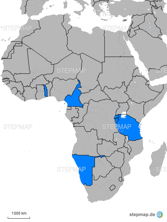 Stepmap Deutsche Kolonien Landkarte Fur Afrika