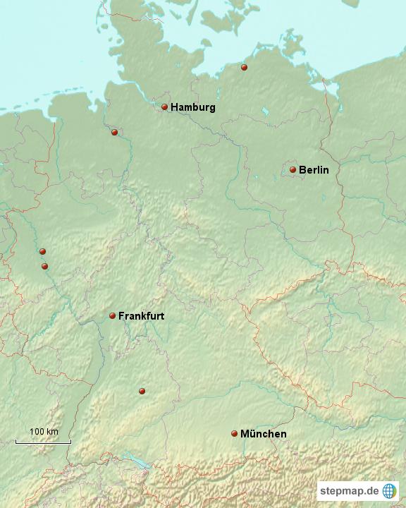 Mittelgebirge Deutschland Karte.Stepmap Deutschlan Und Seine Mittelgebirge Landkarte Für Deutschland