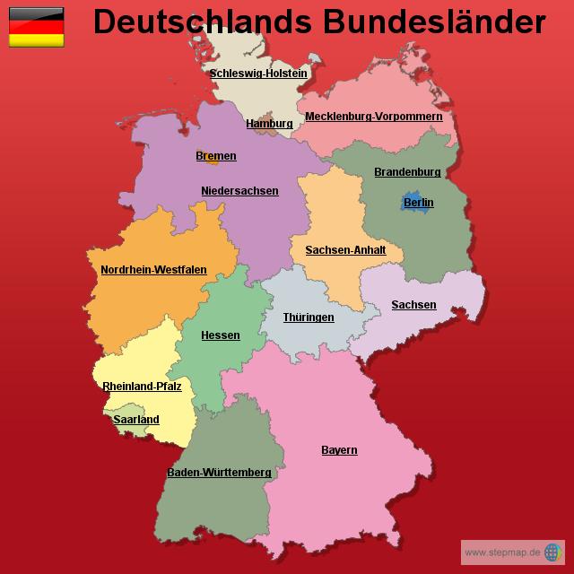Stepmap Deutschland Bundesländer Landkarte Für Deutschland