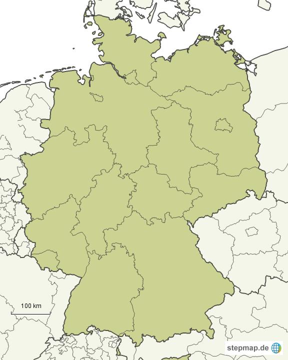 deutschlandkarte mit landesgrenzen StepMap   Deutschland, Bundesländer   Landkarte für Deutschland