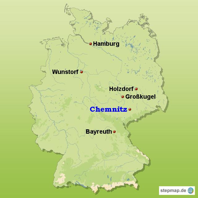 Chemnitz Karte.Stepmap Deutschland Chemnitz Landkarte Fur Deutschland