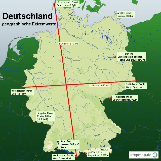 deutschlandgeographie von spiabene04 landkarte f252r