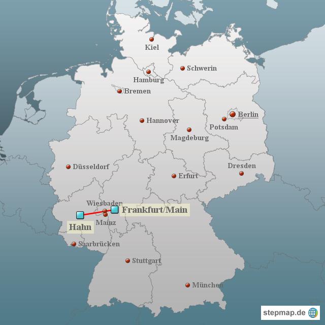 frankfurt hahn karte deutschland StepMap   Deutschland Hahn Frankfurt   Landkarte für Deutschland