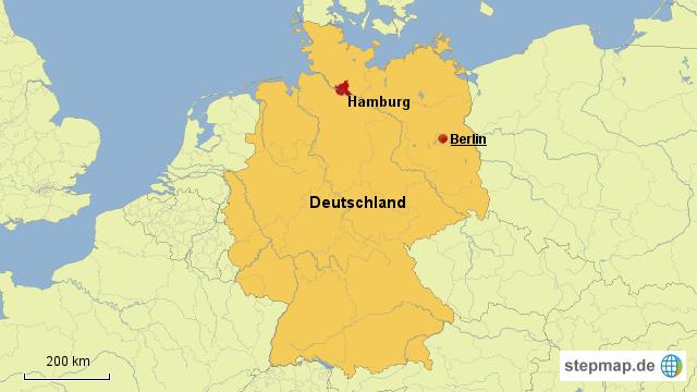 hamburg landkarte deutschland StepMap   Deutschland Hamburg   Landkarte für Deutschland