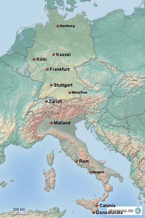 karte deutschland und italien StepMap   Deutschland Italien   Landkarte für Deutschland