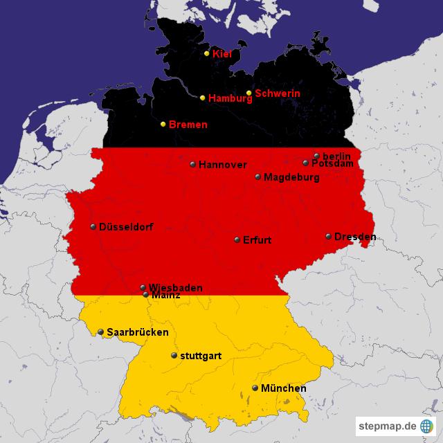 Land Karte Deutschland.Stepmap Deutschland Karte Landkarte Fur Deutschland