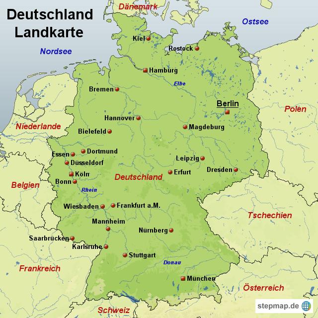 Land Karte Deutschland.Stepmap Deutschland Landkarte Landkarte Fur Deutschland