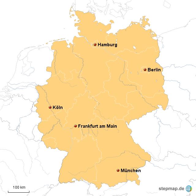 karte deutschland maßstab StepMap   Deutschland Maßstab   Landkarte für Deutschland