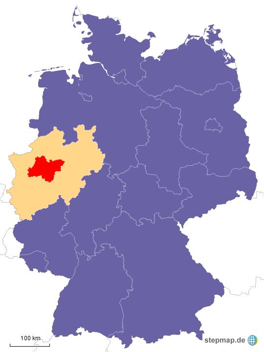 Karte Ruhrgebiet.Stepmap Deutschland Nrw Ruhrgebiet Landkarte Für Deutschland