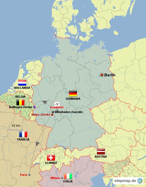 deutschland nachbarl nder von armine landkarte f r. Black Bedroom Furniture Sets. Home Design Ideas
