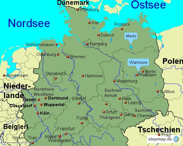 karte deutschland nord StepMap   Deutschland Nord   Landkarte für Deutschland