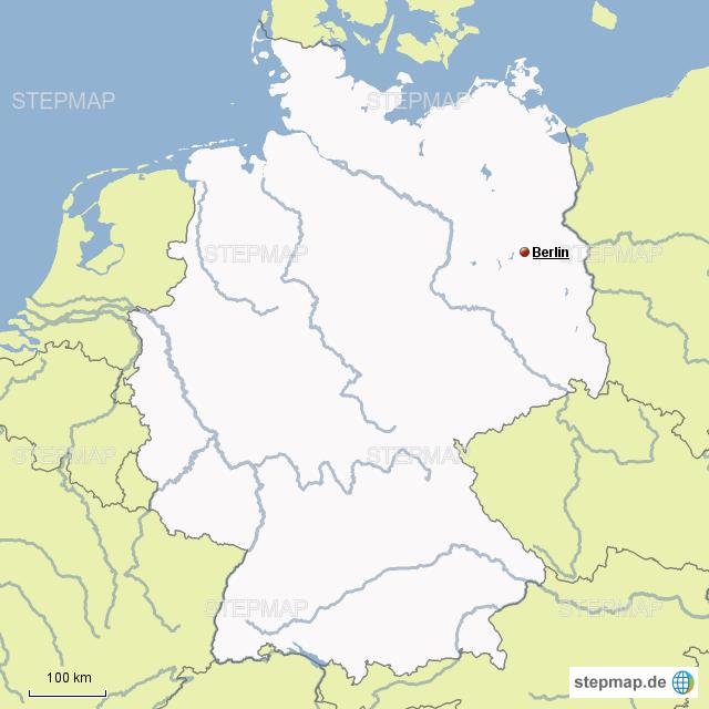 physische karte deutschland flüsse StepMap   Deutschland Physisch Flüsse   Landkarte für Deutschland