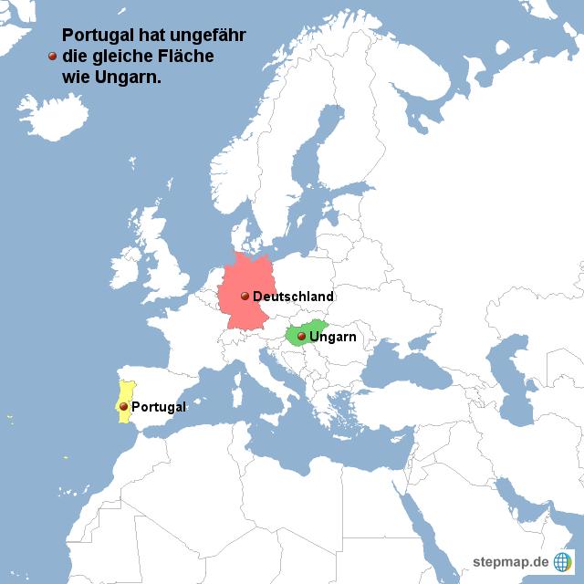 landkarte deutschland ungarn StepMap   Deutschland,Portugal,Ungarn   Landkarte für Portugal
