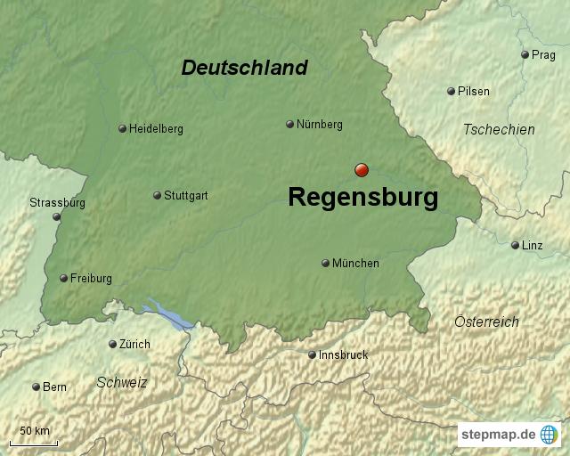 deutschland karte regensburg StepMap   Deutschland Regensburg   Landkarte für Deutschland