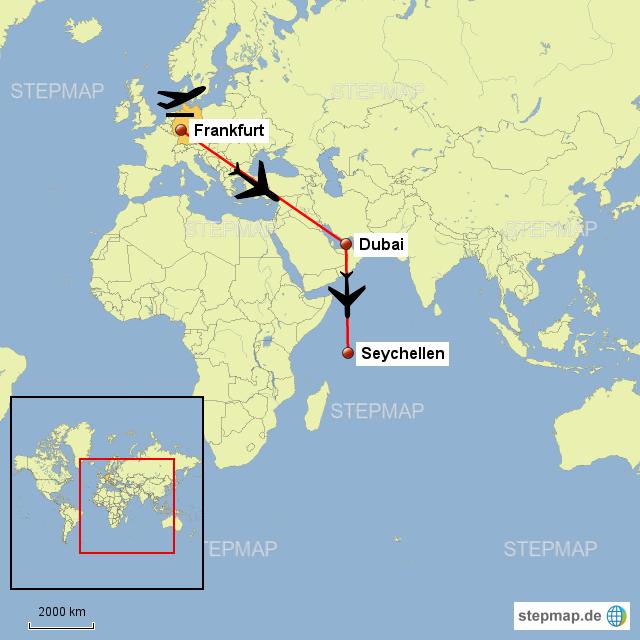 Karte Seychellen.Seychellen Karte Karte