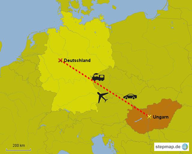 landkarte deutschland ungarn StepMap   Deutschland   Ungarn   Landkarte für Europa