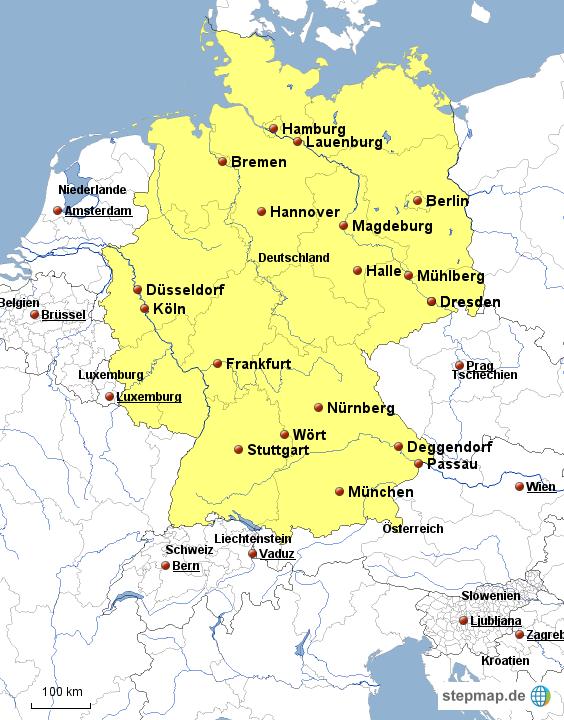 wasser karte deutschland StepMap   Deutschland   Wasser   Landkarte für Deutschland