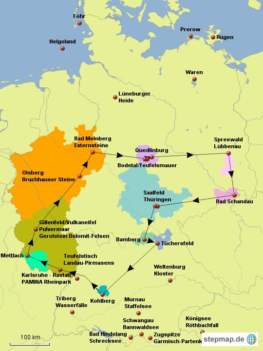 westen deutschland karte StepMap   Deutschland Westen/Osten   Landkarte für Deutschland