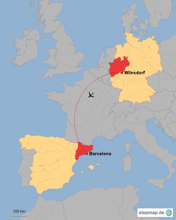 Spanien Katalonien Karte.Stepmap Deutschland Wilnsdorf Nrw Spanien Barcelona