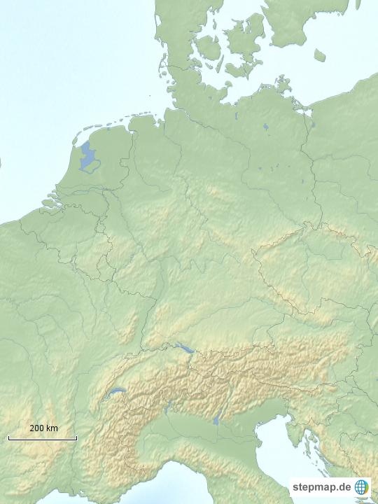 stepmap deutschland angrenzende l nder landkarte f r deutschland. Black Bedroom Furniture Sets. Home Design Ideas