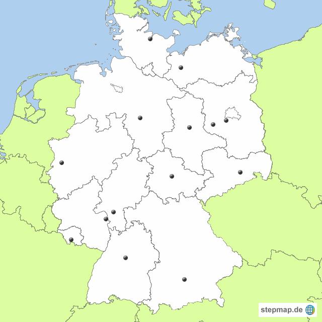 bundesländer leere karte StepMap   Deutschland leer   Landkarte für Deutschland